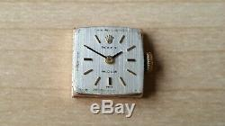 Ladies Vintage. 375 9ct Gold Rolex Precision On A 9ct Gold Bracelet + Box 33.7g