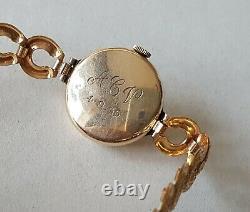 Ladies Vintage. 375 9ct Gold Rolex Tudor Wrist Watch Rolled Gold Bracelet