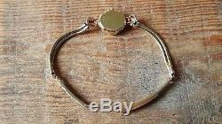Ladies Vintage. 375 9ct Gold Rolex Tudor Wrist Watch + Rolled Gold Bracelet Gwo