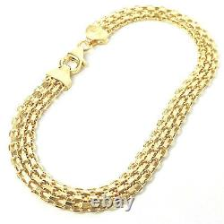 Ladies Woven Bracelet Flat 9ct Yellow Gold NEW 6mm Wide 3.7g 7.5 Inches