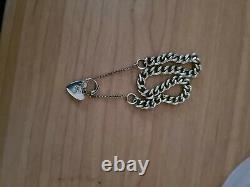 Ladies vintage 9ct gold charm bracelet