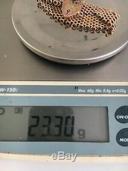 Ladys Heavy Solid 9ct Gold Bracelet 23.32 Grams