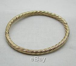 Lovely Heavy 9ct Gold Twist Design Bangle