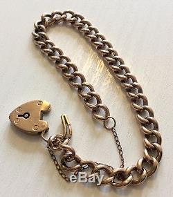 Lovely Ladies Antique 9ct Gold Padlock Bracelet Antique Gold Bracelet