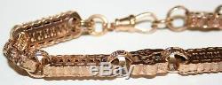 Lovely Ornate 9ct Rose Gold Stars & Bars Link Bracelet