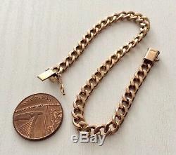 Lovely Quality Vintage 9 Carat Gold Bracelet 9CT Curb Bracelet