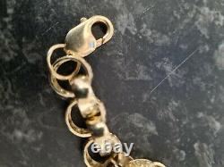 Mans 9ct gold belcher Bracelet
