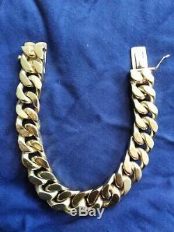 Men's Solid 9ct Gold Bracelet Very Heavy