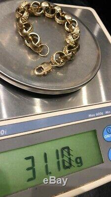 Men's belcher bracelet 31 gram in good condition 9ct yellow gold