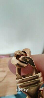 Mens 9ct Gold Bracelet 75.16 Grams Strong Lobster Clip Clasp