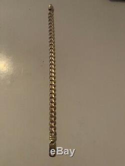 Mens 9ct Gold Curb Bracelet
