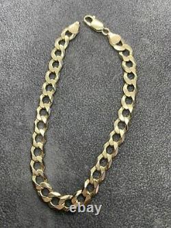 Mens 9ct Gold Curb Bracelet 9 13.8g