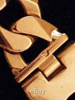 Mens 9ct Gold Heavy Curb Bracelet. 108 Grams