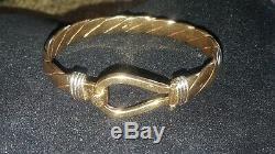 Mens 9ct Gold Push Slave Bangle. 59.7 Grams