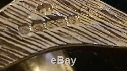Mens 9ct Gold Very Heavy Curb Bracelet. 441 Grams. 9 1/2 Inch