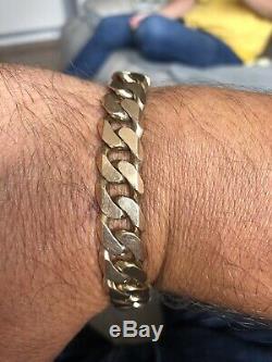 Mens 9ct gold curb bracelet 2oz Swap /px