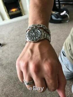 Mens 9ct white gold diamond bracelet