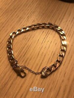 Mens Heavy 9ct Gold Bracelet Not Scrap See Pics