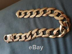 Mens Solid 9ct Gold Curb Bracelet