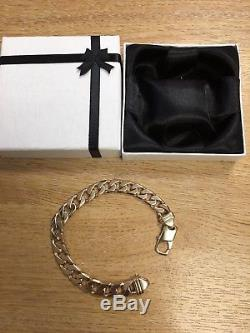 Mens Solid Gold Heavy 9ct Mans Gents Bracelet Bangle, 43.3 Grms, 9 Inches Long
