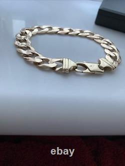 Mens heavy 50 gram 9ct Gold Curb Bracelet. Not Scrap See Pics