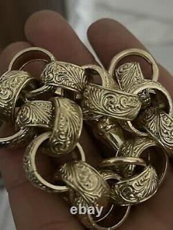 Mens heavy 9ct gold bracelet (BRAND NEW) NOT SCRAP