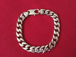 Mens solid 9 ct gold bracelet