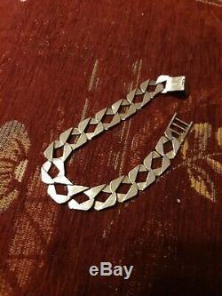 Mens solid 9 ct gold bracelet 25.6 grams, 8.5 inch