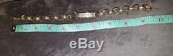 Mens solid 9 ct gold snap-on bracelet a heavy 40.2 grams of solid gold NOT scrap