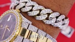 Miami Cuban Link Bracelet 190 Grams 10k White Gold 9 Carat Diamonds Video ASAAR
