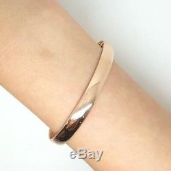 Miran 110416 9ct Rose Gold Solid Plain Bangle 19g Size 5.9cm Wide 7mm RRP$1899