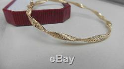 NEW 9kt 9ct yellow gold bangle w design curly twist