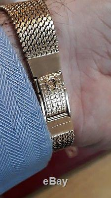 OMEGA GENT'S 9CT GOLD Omega De Ville Dress WATCH 9CT GOLD BRACELET VGWO + BOX