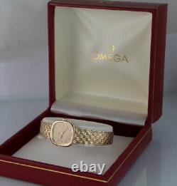 OMEGA Watch 9ct 9k Solid Gold Case and Bracelet, Omega Box, 6m Warranty (1426)