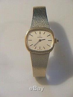 Omega 9ct Gold Ladies Watch & Bracelet