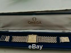 Omega De Ville 9ct gold men's watch with 9ct gold bracelet over 48g in weight