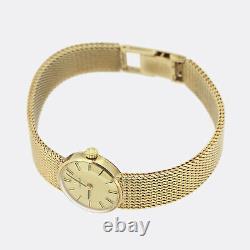 Omega Gold Watch Vintage Omega Ladies Manual Bracelet Watch 9ct Yellow Gold