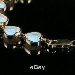 Opal Heart Bracelet 9ct Yellow Gold