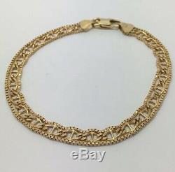Pretty 9ct Gold Fancy Ladies Bracelet. 4.9g U. K. Hallmark RRP £245
