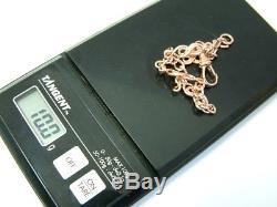 Pretty 9ct Modern Rose Gold Solid Fancy Linked Ladies Bracelet 8 Inches