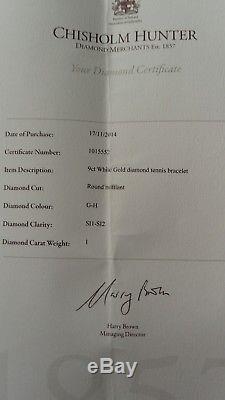 Pretty and elegant 9ct White Gold, 1ct Diamond Tennis Bracelet