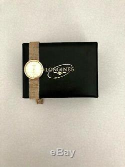 Rare Vintage Gents 9ct Gold Longines Bracelet Watch