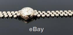 Rolex Precision Vintage 9ct Gold Ladies Bracelet Watch in Rolex Presentation Box
