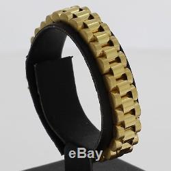 Rolex Style 9ct Yellow Gold Presidential Bracelet Ladies 14cm