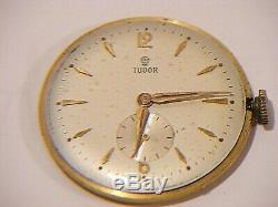 Rolex Tudor Rose 9ct Gold Watch Gents With Gold Plated Bracelet