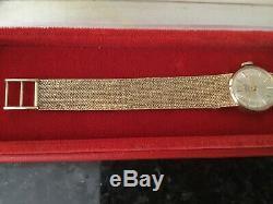 Rolex Tudor Royal Ladies 9k Y/gold Cocktail Dress Watch. Original 9ct Bracelet