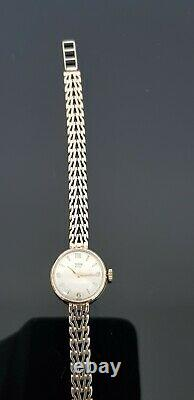 Rolex Tudor Royal Vintage 1960's Hand Wound Ladies 9ct Gold Bracelet Watch
