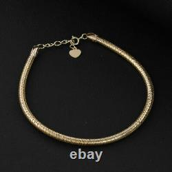 Royal Bali Collection 9K Yellow Gold Chain Bangle for Womens 7.5'