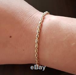 SALE- 9 ct/k 375 Gold Rope Link Bracelet Solid SALE
