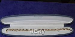 SECONDHAND EX QVC 9ct YELLOW GOLD MULTI DIAMOND LINE BRACELET (21.0cm)